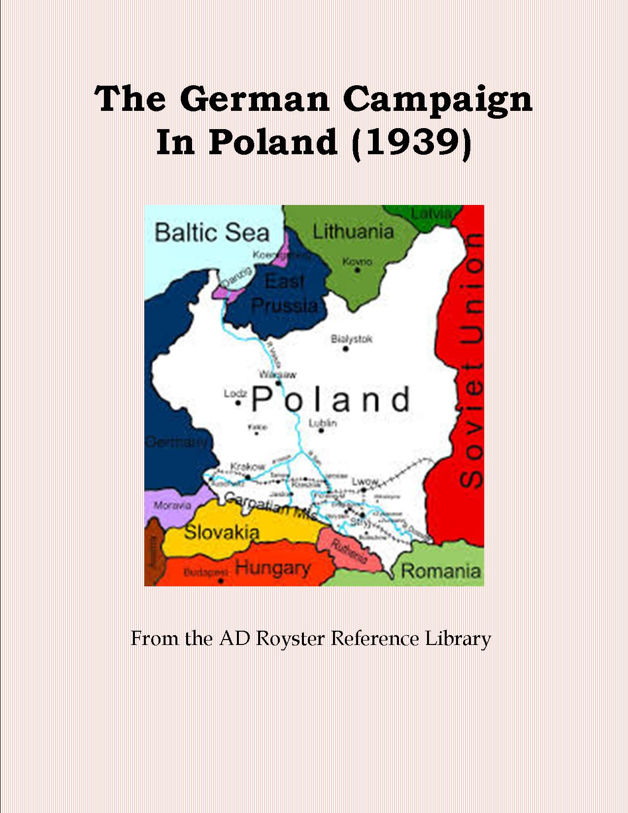 The German Campaign In Poland (1939) cover 3