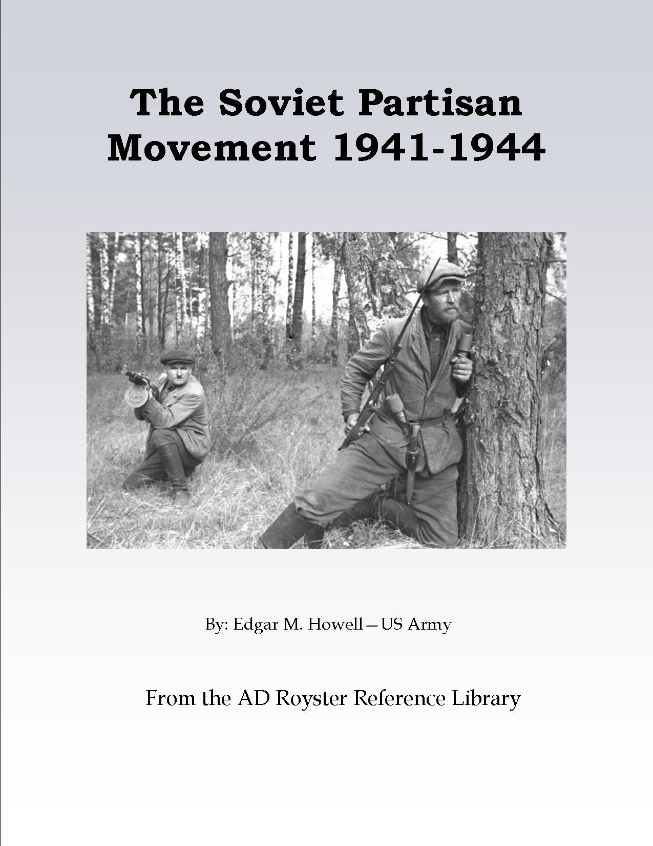 The Soviet Partisan Movement Cover